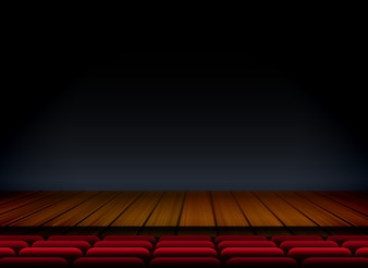 Theater wooden stage