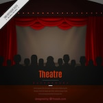 Theatre background with silhouettes
