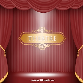 Theatre stage background