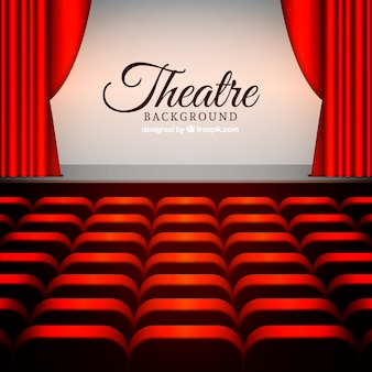 Theatre stage with armchairs background