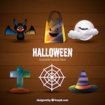 Thematic set of halloween things