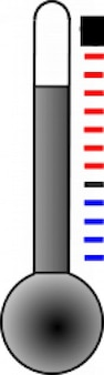 thermometer with gray liquid