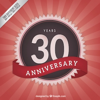 Thirtieth anniversary vintage background