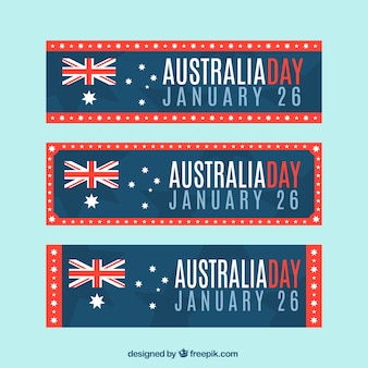 Three Australia Day Banners Pack