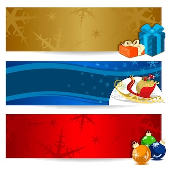 Three banners for christmas