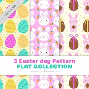 Three decorative easter patterns