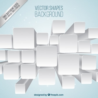 Three dimensional squares background
