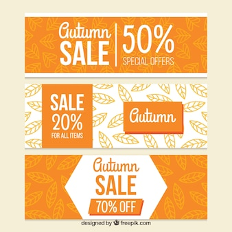Three fall discount banners