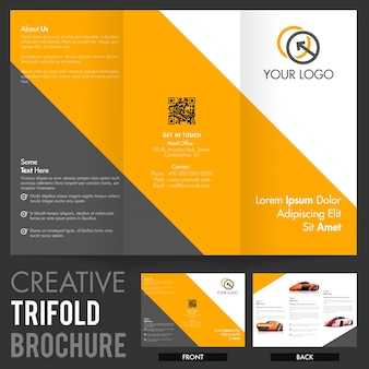 Three-fold business poster modern banner