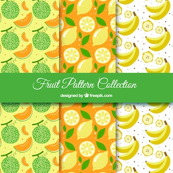 Three fruit patterns