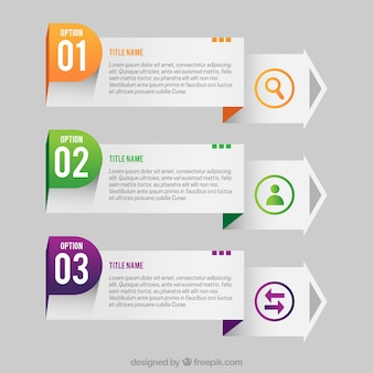Three infographic banners in realistic style