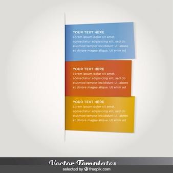 Three infographics cards