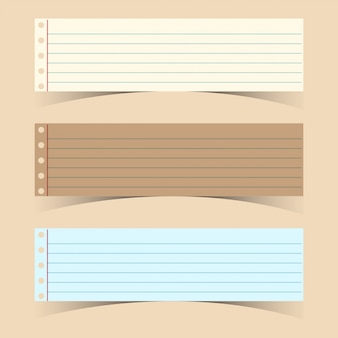 Three line papers on pink background