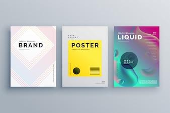 Three minimal business brochure templates
