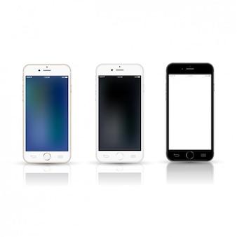 Three Mobile Phone Mockup