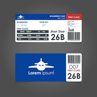 Tickets for air travel