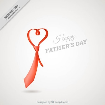 Tie heart shaped father's day background