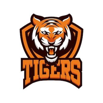 Логотип эмблемы животных талисмана TIGER