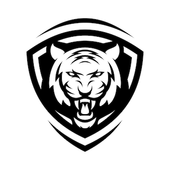 TIGER animal sport mascot head logo vector