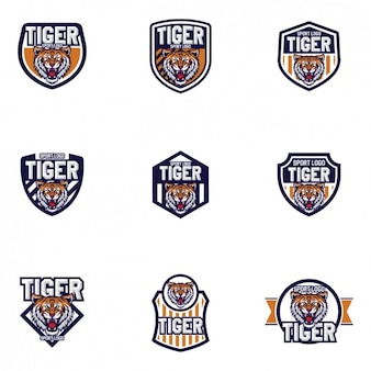 Tigers logo templates design