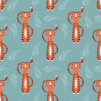 Tigers pattern design