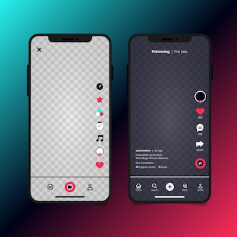Tiktok app interface template set