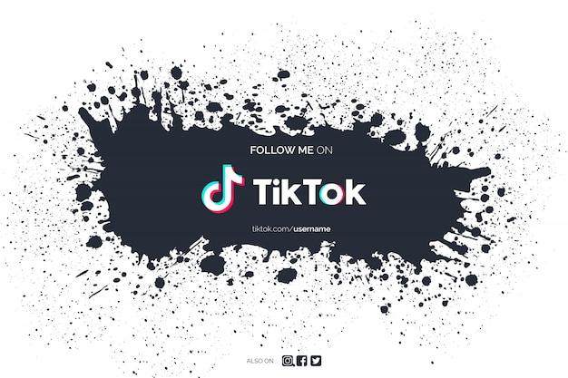 Tiktok background with paint splash