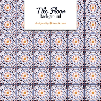 Tile pattern with geometric design