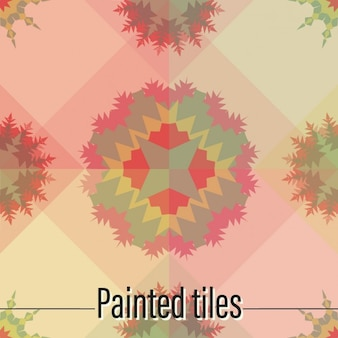 Tiles  coloured abstract shapes design
