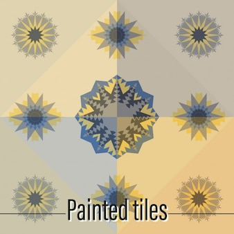 Tiles abstract shapes design