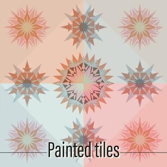 Tiles starry shapes design