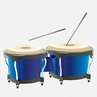 Timbales with Drumsticks