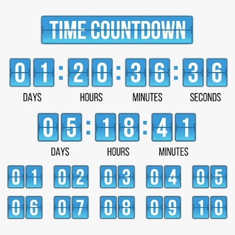 Time countdown template