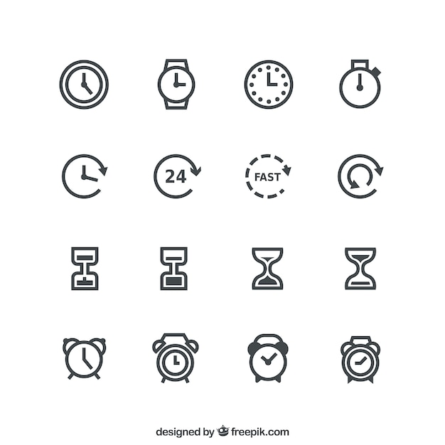 24 hour round the clock Icons | Free Download