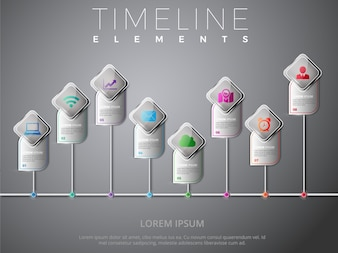 Timeline elements collection