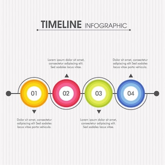 Timeline infographic with round options