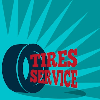 Tires background design