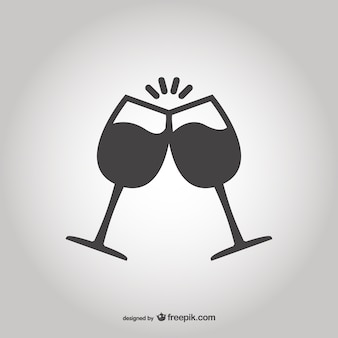 Toasting with glasses