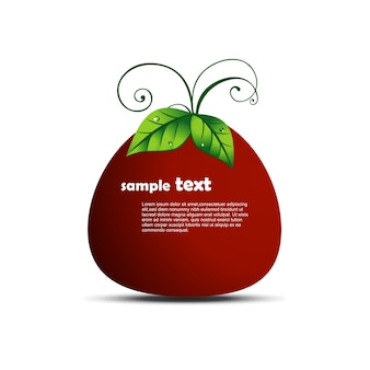Tomato illustration with space for text