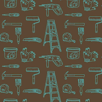 Tools for home repair. Seamless pattern