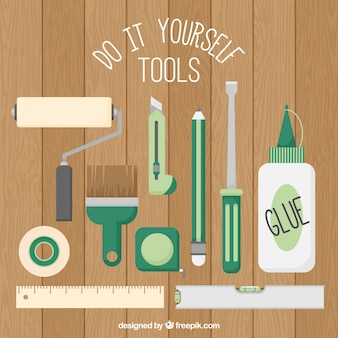 Tools for manual work in flat design