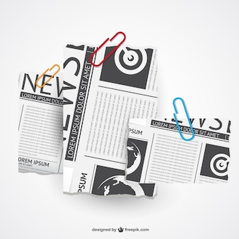 Torn newspaper vector