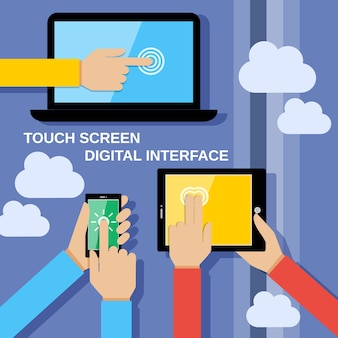 Touch screen devices background