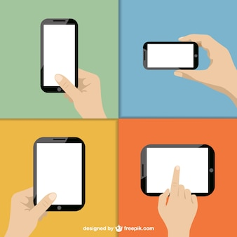 Touch screen technology vector