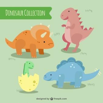 Touching colored dinosaurs