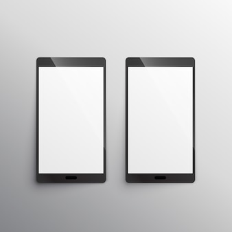 Touchscreen smartphone mockup template