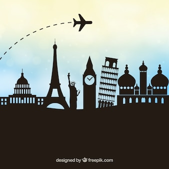 Tourism vector geometric design