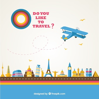 Tourism vector template