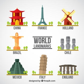Touristic world monuments