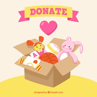 Toy box for donation background